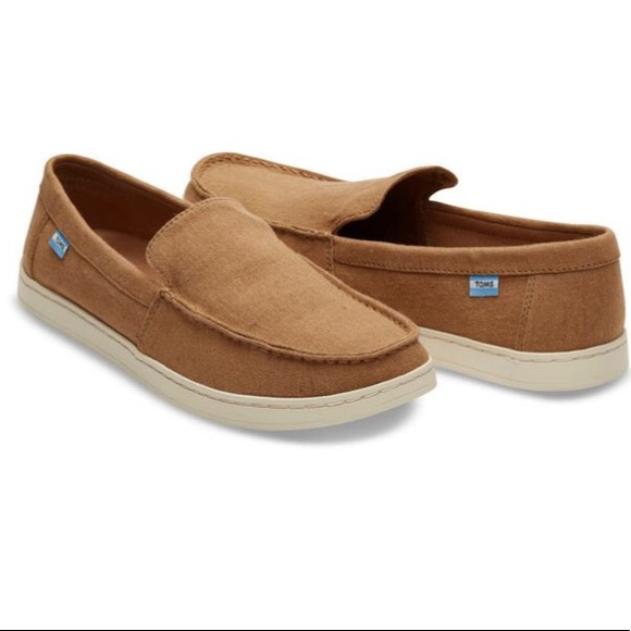 Toms Other - NWOT TOMS toffee hemp aiden canvas slip-ons
